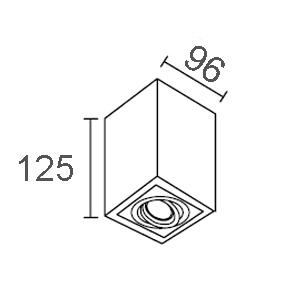 ขนาดไฟดาวน์ไลท์ติดลอย-CORE-S-GU10