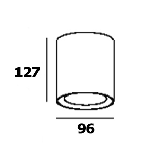 Drawing ดาวน์ไลท์ติดลอย MODE-RM PAR20