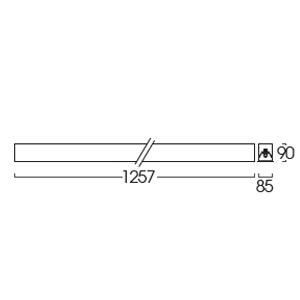 ขนาดของโคมฝังฝ้าหน้าพลาสติก LRLP-1L