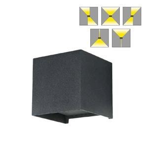 โคมไฟติดผนังภายนอก LED SAM 2x3W