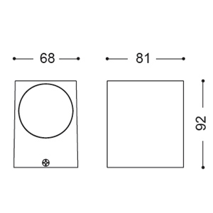 ไฟติดผนัง WATT-S1 GU10 เปลี่ยนหลอดได้
