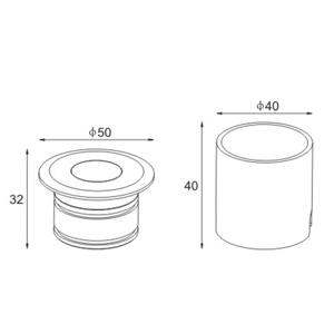 Drawing Uplight LED-ING-50-3W