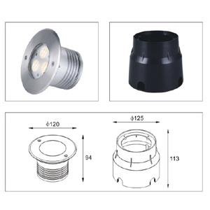 Drawing Uplight LED-ING-CRGB-3x3W