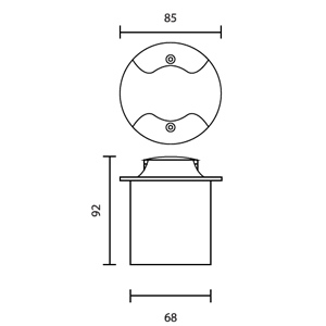 Drawing Uplight LED-SEGA-R2-2W