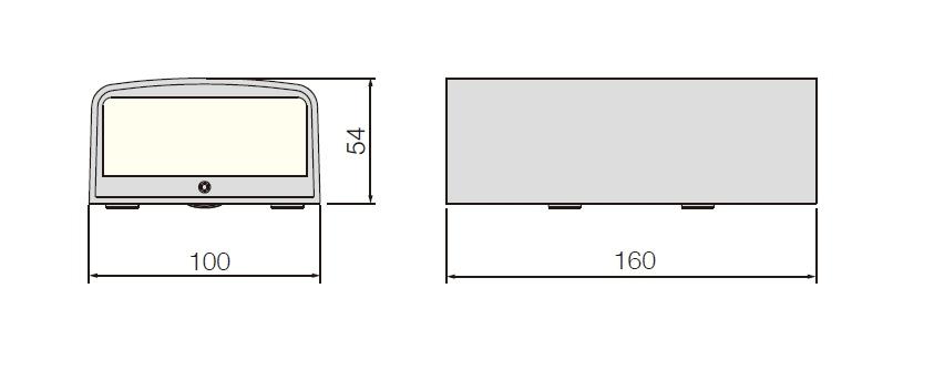ขนาดไฟติดผนังภายนอก TAG-S2 led 2x3W