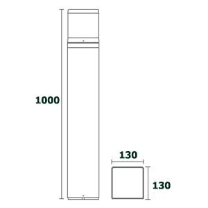 ขนาด-โคมไฟ-Bollard-light-DELTA-E27