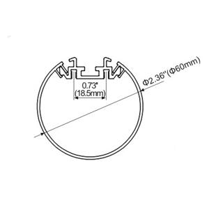 รางอลูมิเนียมใส่ไฟLEDเส้น TYPE-L