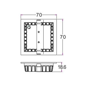 Drawing โคมไฟบันได STEP-A LED 1.5W