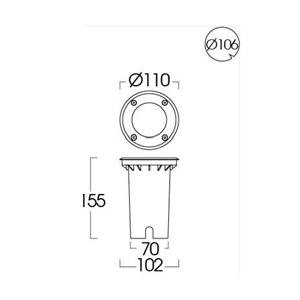 Drawing Uplight GU10-ING-167