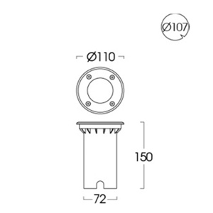 Drawing Uplight GU10-ING-181