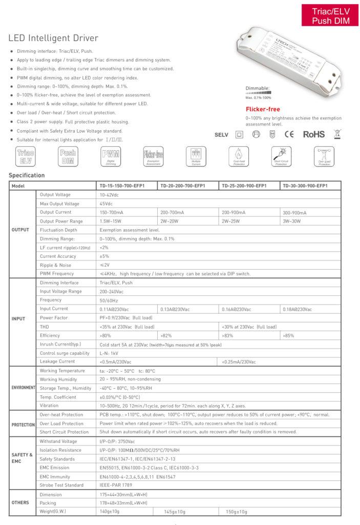 TD-15-150-700-EFP1 Spec 1