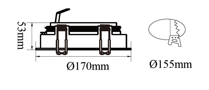 ขนาดโคมไฟดาวน์ไลท์-AR111 SAKURA-R