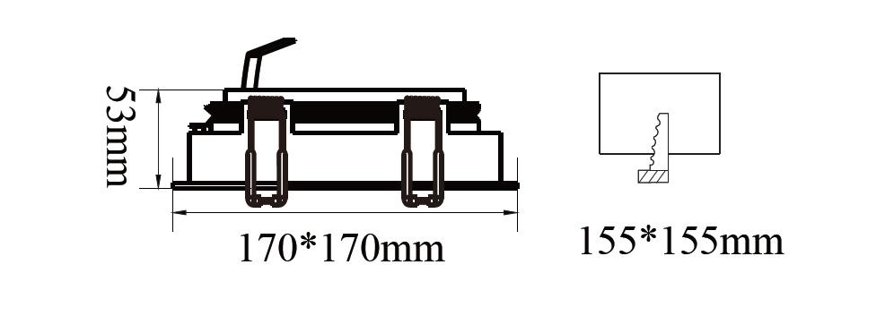 ขนาดโคมไฟดาวน์ไลท์-AR111 SAKURA-S1