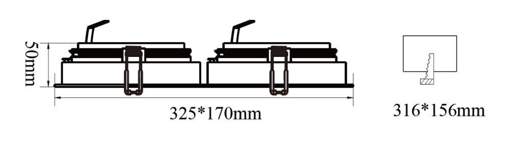 ขนาดโคมไฟดาวน์ไลท์-AR111 SAKURA-S2