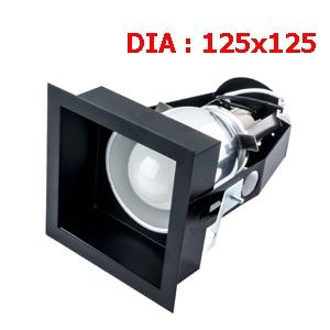 ดาวไลท์สีดำ HEX-SB1 ขั้ว E27