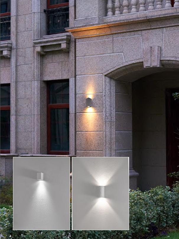 โคมไฟติดผนังภายนอก LED กันฝน กันน้ำ ทนทาน รูปทรง Modern style
