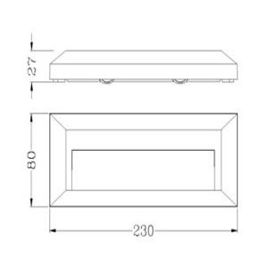 Drawing ไฟบันได-HANA-D-3W-LED